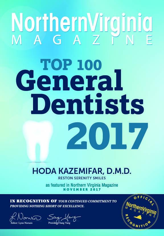 magazine cover featuring Dr. Hoda Kazemifar